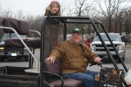 Katelyn Mace and her driver Grandpa Neil Mace