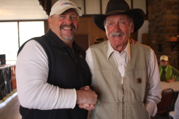 Owner Rex Garner with Judge Jack Herriage
