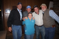 Sean Kelly, Shawn Kinkelaar, Mike Tracy & Les Rowell with Peg Herriage