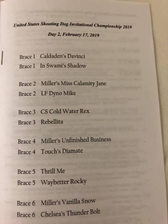 Order of running 2